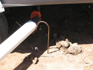 Trailer end of sewer connection