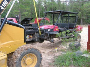 "The Kawasaki Mule in the ""hospital"""