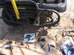 "Way too many tools on the ground for a ""simple"" repair!"