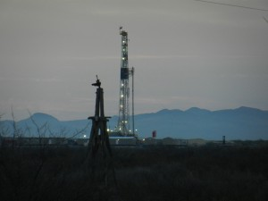 Forest Oil rig near Balmorrhea, West Texas. 2-28-12