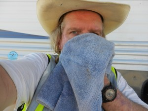 Not a Bandito  -Just me wiping off the sweat