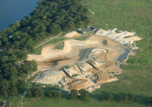 Aerial view of the lake project