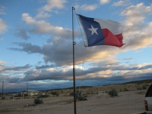 Texas Flag over Terlingua,TX    September 2010