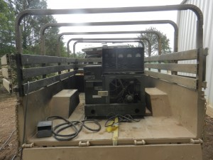 MEP-002A military generator in a M101A2 cargo trailer