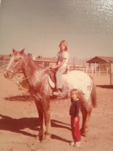 Little Arizona Blondie horseback - Age 9 or so