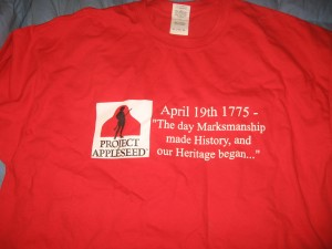 Appleseed T- I don't wear t shirts with writing on them anymore.  I imagine this one will end up with BFF Cait