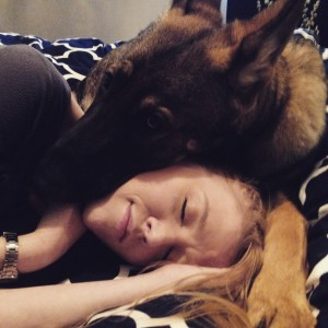 BFF Cait and Stark the German Shepherd