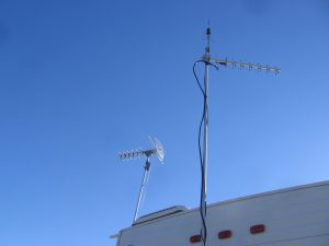 The HD antenna in the back beamin' toward San Antone